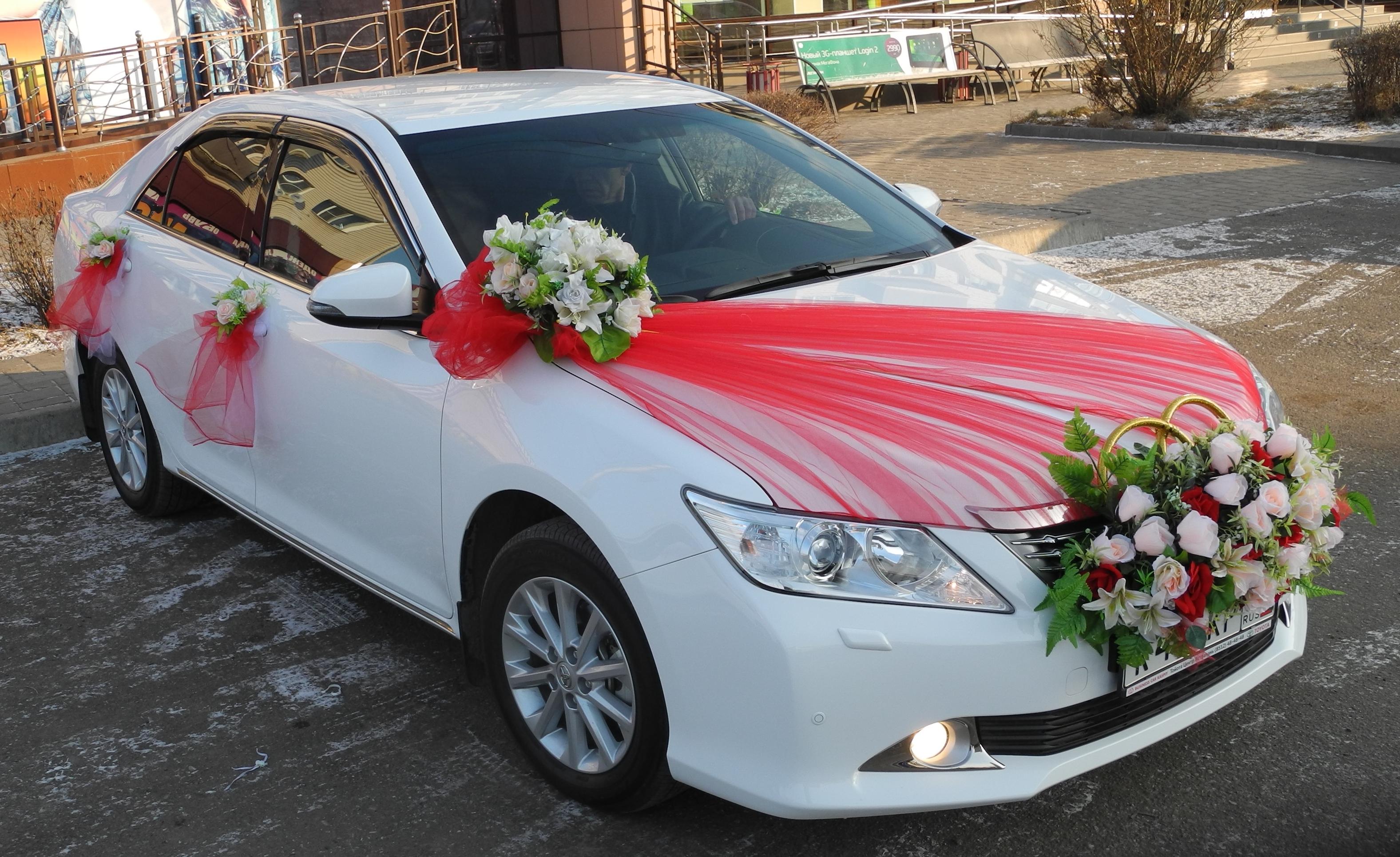 Свадебный декор машины своими руками 91