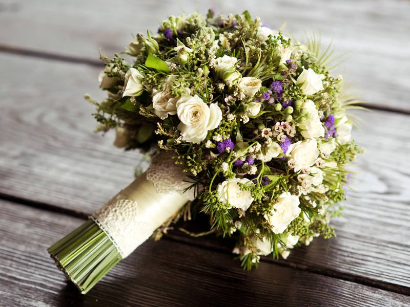 Букет из садовых цветов своими руками на 1 сентября