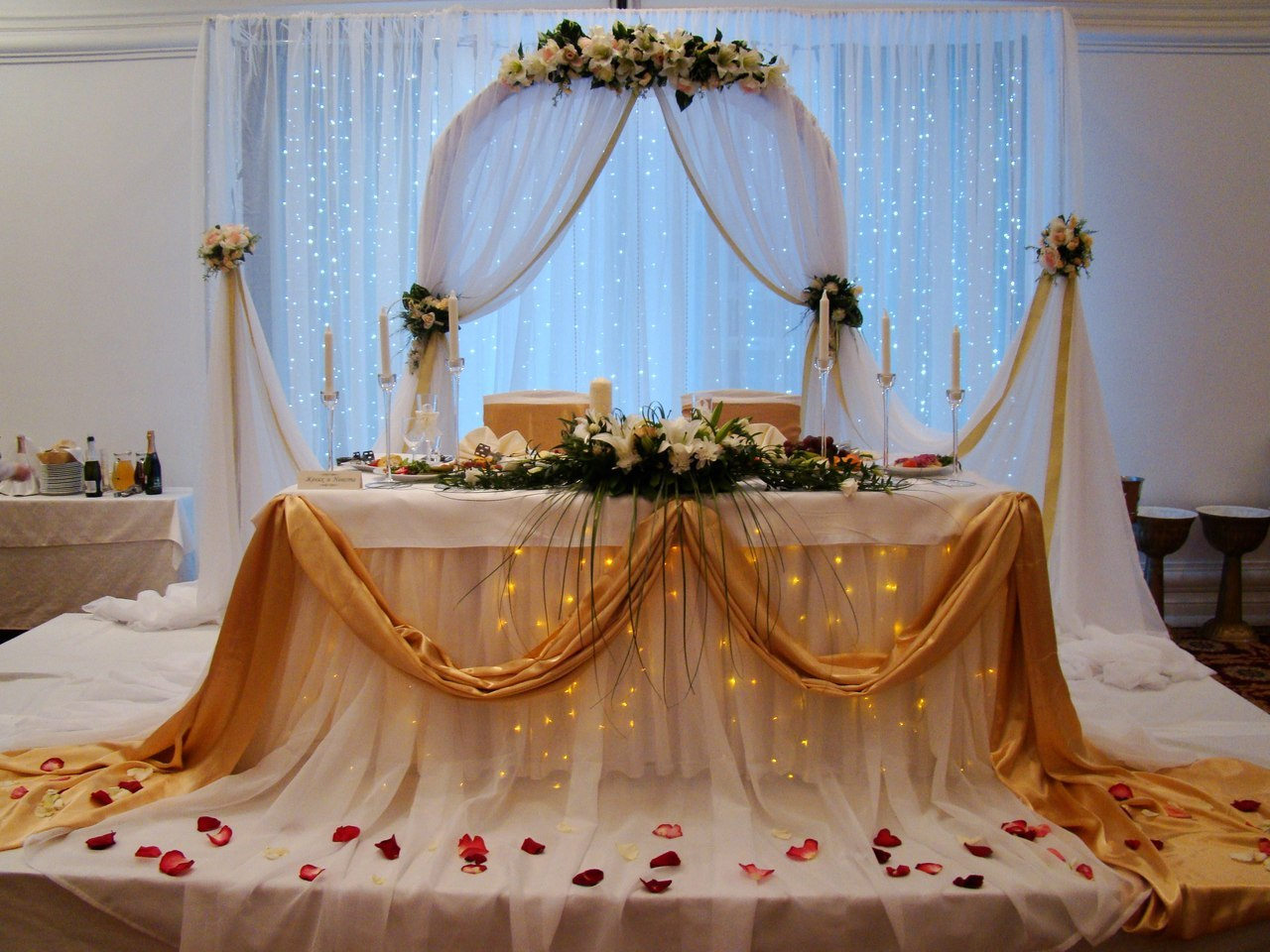 Золотая свадьба оформление фото 5