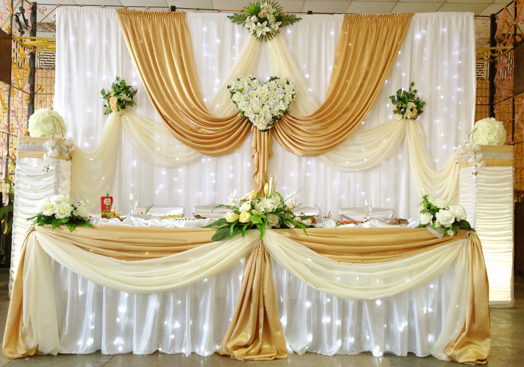 Золотая свадьба оформление фото 3