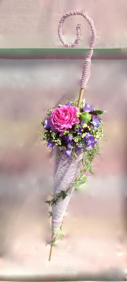 Декоративный зонтик для цветов