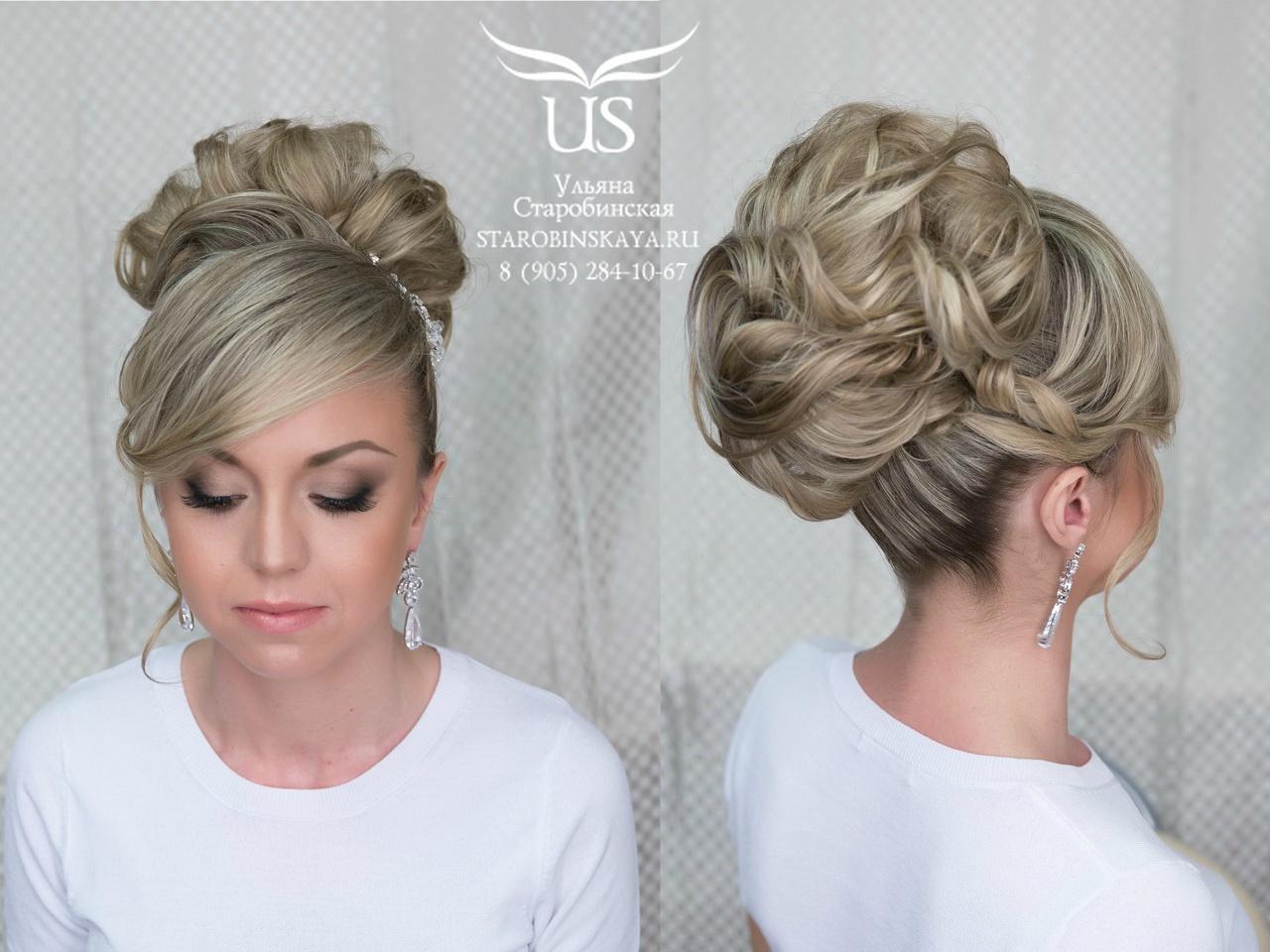 Свадебный макияж для невесты с мелированными волосами