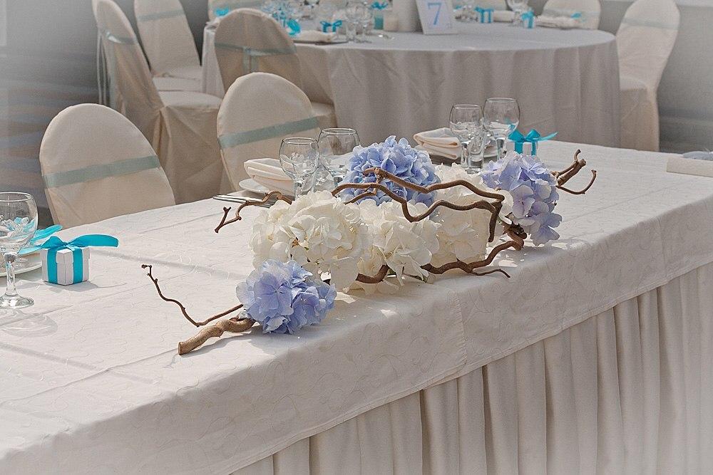 Цветочные композиции на стол молодоженов