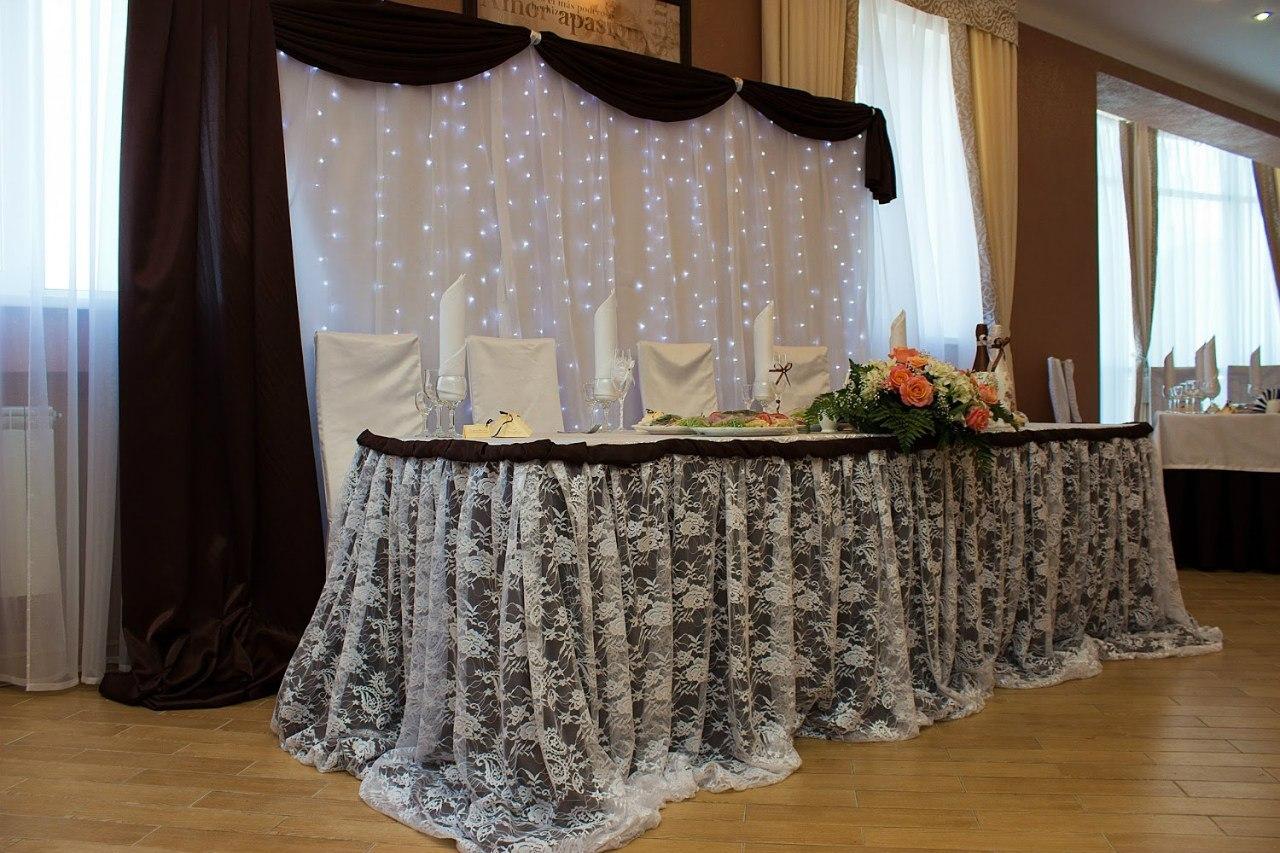 Украшение зала на свадьбу в коричневом цвете фото