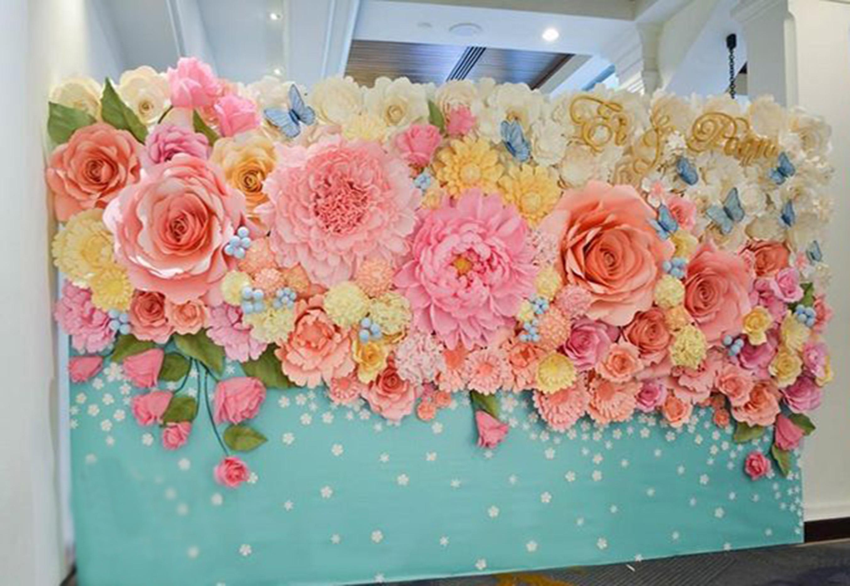 Цветы из цветочной бумаги