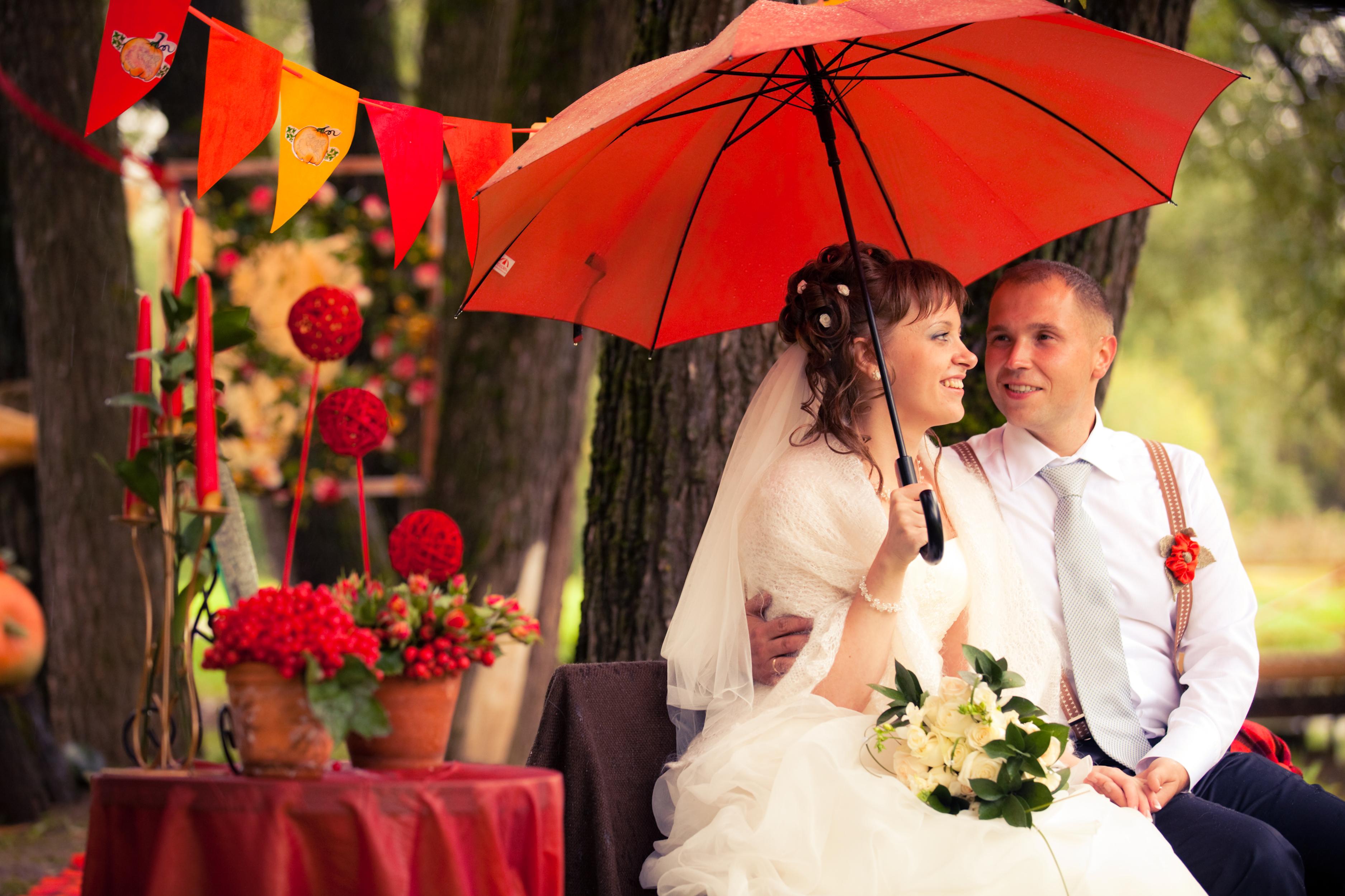 Зонтик на свадьбу фото