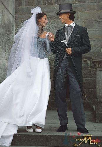 Невеста в черно-белом свадебном платье. Жених в черном смокинге и в - фото 165 simik