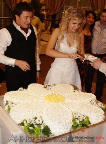 Свадебный торт в виде ромашки. - фото 345 simik