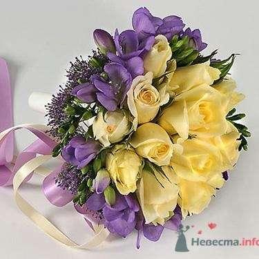 Букет невесты из желтых роз и ирисов. - фото 567 simik