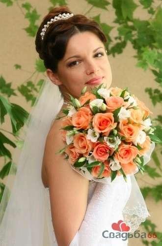 Невеста с букетом из оранжевых роз. - фото 6 Елена