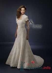 Классическое свадебное платье Mori Lee, кружевное, с болеро. - фото 159 Невеста01