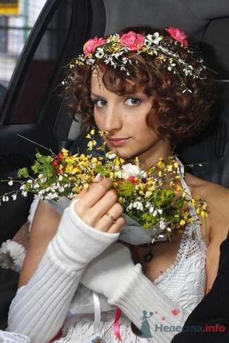Образ невесты в стиле рустик. Свадебный букет из полевых цветов. - фото 111 Невеста01