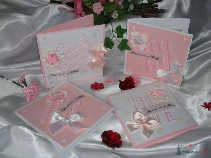 """Приглашение на свадьбу розовое - фото 66815 """"Свадебный Бум"""" - свадебные принадлежности"""