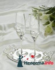 """Бокалы свадебные """"Ты в моем сердце"""""""