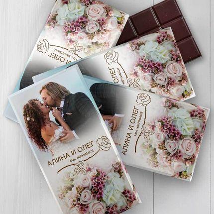 Дизайн приглашений или подарков гостям в виде шоколада