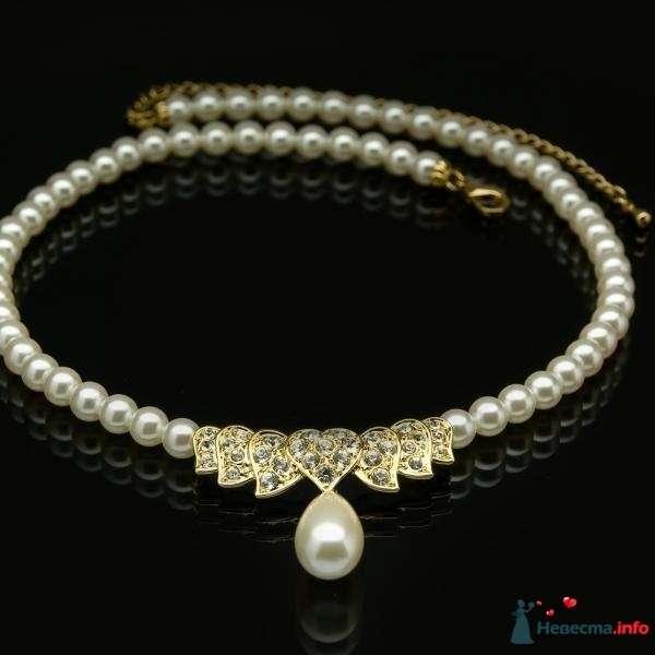 Ожерелье из жемчуга на шею в классическом стиле с каплевидной жемчужной подвеской   - фото 87478 katya777