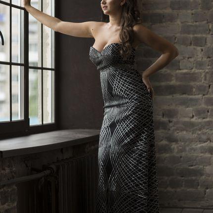 Открытое вечернее платье