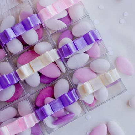 """Бонбоньерка с конфетами """"Итальянское драже"""", цена за 1 шт"""