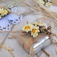 Бонбоньерка Коробочка с маргаритками, в стиле Рустик
