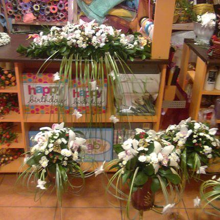 Оформление церемонии живыми цветами