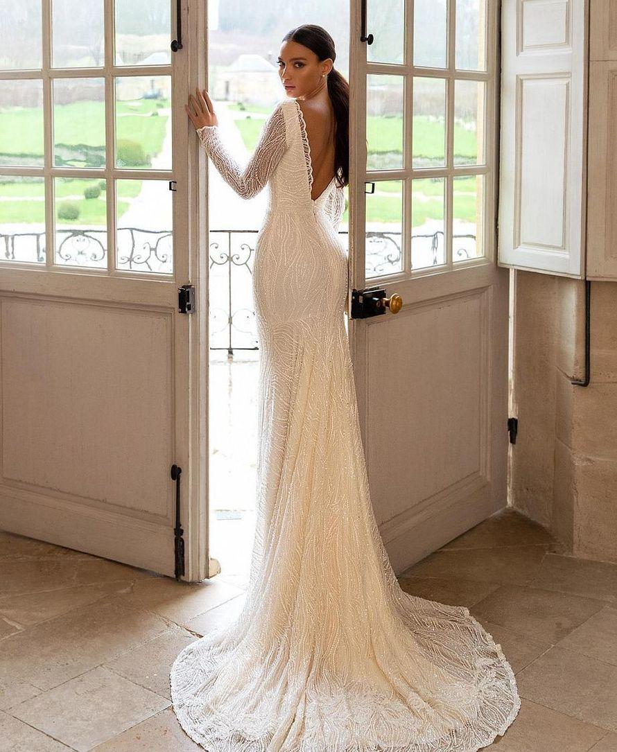 Платье со шлейфом Русалка