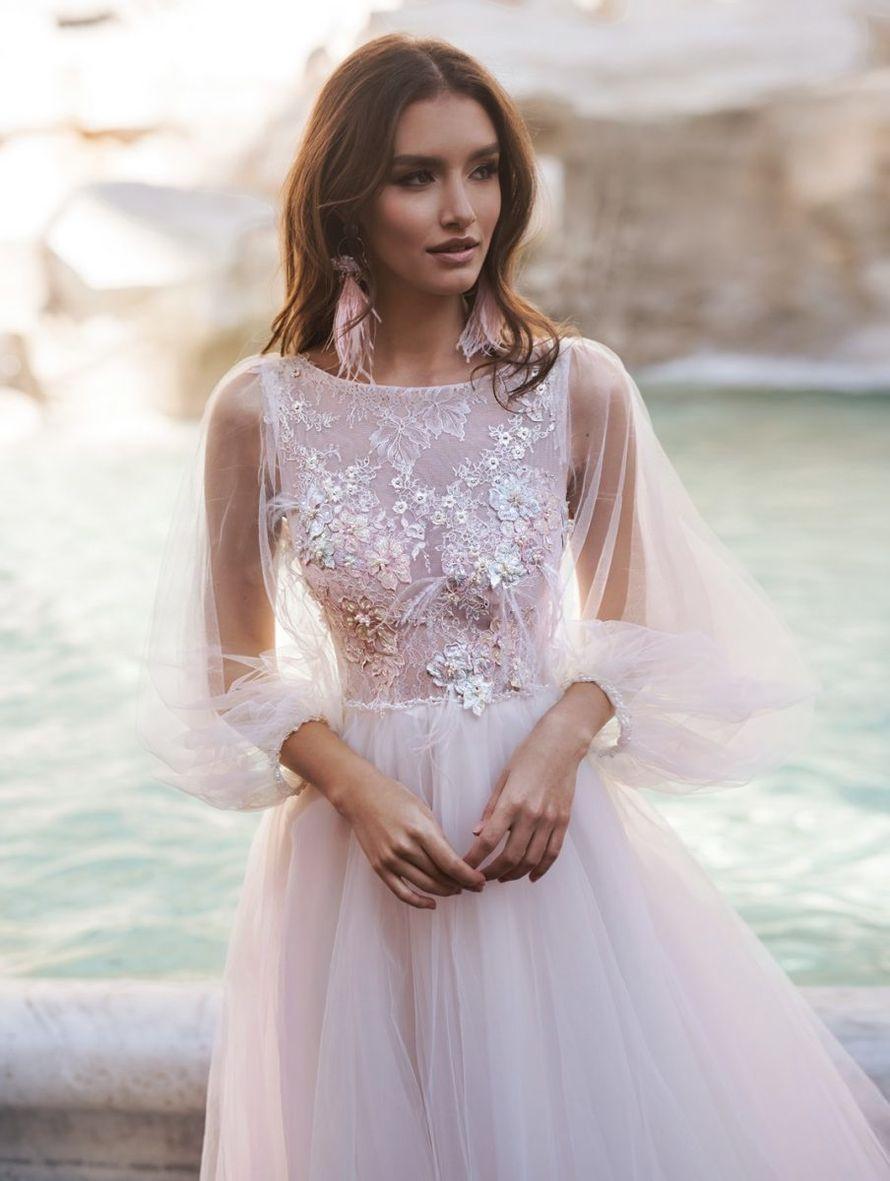 Платье с кружевным топом