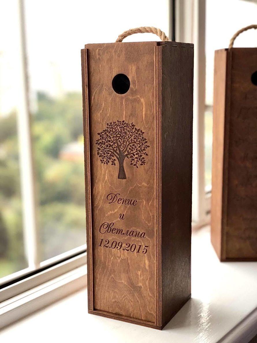 Коробка для вина в морилке