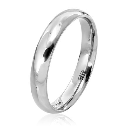 Обручальное кольцо из платины классическое