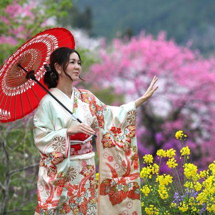 Фотосессия в японском кимоно