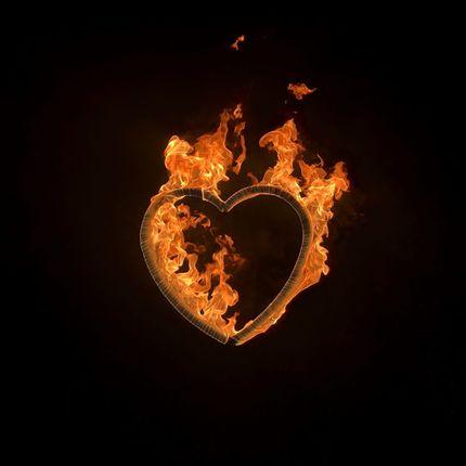 Огненное сердце - большое
