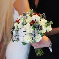 Букет невесты с зимними мотивами