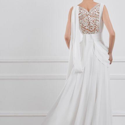 Платье свадебное с вышивкой