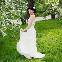 белое длинное платье невесты