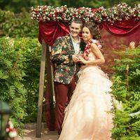 Яркая пара!  Ксения, идеальная невеста!  Фото Анна Белая Прическа Анна Оборина Макияж Анна Кондрашова