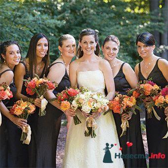 Фото 90094 в коллекции Букет невесты, подружек, и бутоньерка жениха!