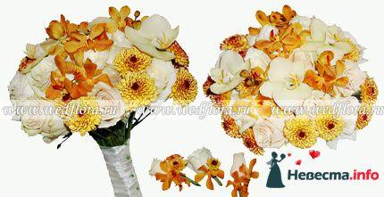 Фото 90116 в коллекции Букет невесты, подружек, и бутоньерка жениха!