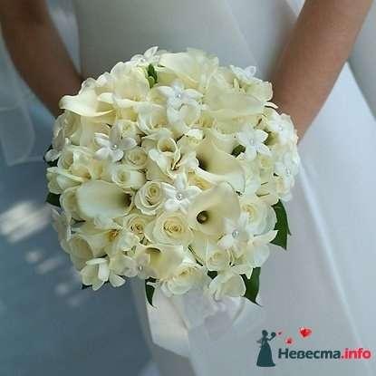 Фото 90140 в коллекции Букет невесты, подружек, и бутоньерка жениха! - Невеста Настенька