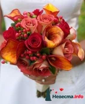 Фото 90156 в коллекции Букет невесты, подружек, и бутоньерка жениха! - Невеста Настенька