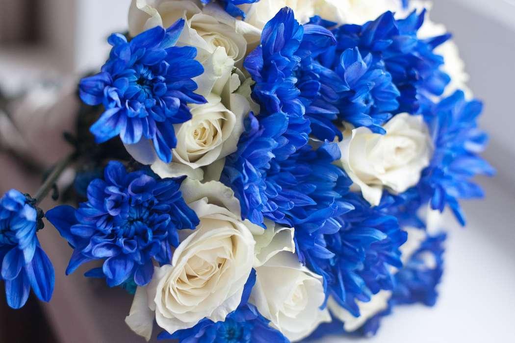 Букет, свадебные букеты бело голубые фото