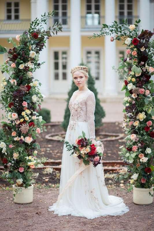 выездная регистрация, арка, церемония, платье, невеста, букет невесты - фото 12952528 Flower vibes - мастерская флористики и декора