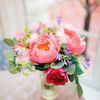 Букет невесты из пионов в розовых оттенках