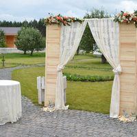 Ставни деревянные с цветочными композициями