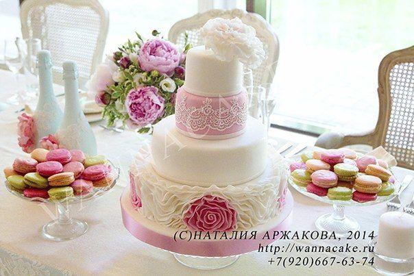 Свадебный торт и свадебные макароны :) - фото 3623481 Свадебные торты от Наталии Аржаковой