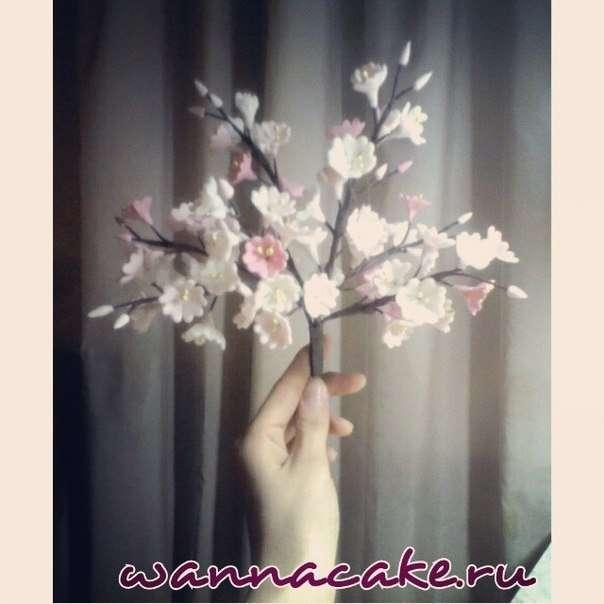 Цветы из мастики - фото 3623483 Свадебные торты от Наталии Аржаковой