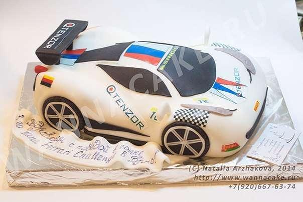 Торт в виде гоночного Ferrari для победителя этапа Ferreri Challenge в Брно - фото 3623497 Свадебные торты от Наталии Аржаковой