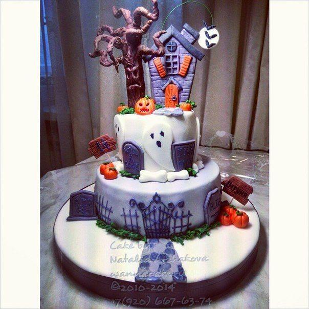 Нереально крутецкий торт с привидениями - фото 4716983 Свадебные торты от Наталии Аржаковой