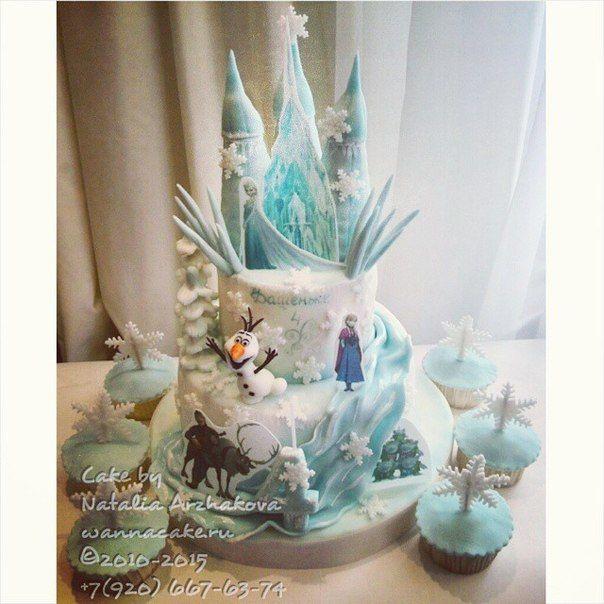 """Торт """"Холодное сердце"""" Съедобно абсолютно все! Ну, кроме подставки. :) - фото 4716995 Свадебные торты от Наталии Аржаковой"""