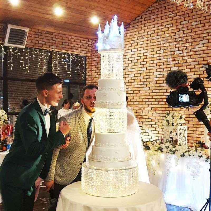 Фото 19046276 в коллекции Портфолио - Свадебные торты от Наталии Аржаковой