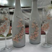 декорирование бутылок и фужеров