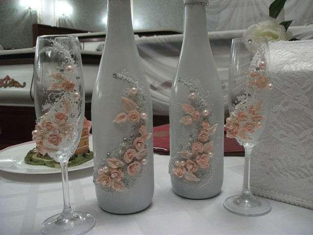 """декорирование бутылок и фужеров - фото 805537 Свадебное агентство """"Кураж"""""""